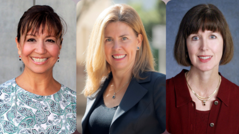 Photos of Professors Nancy Rodriguez, Elizabeth Cauffman and Susan Turner