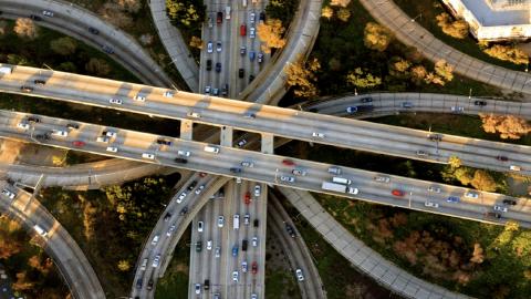 Photo of freeways intersecting