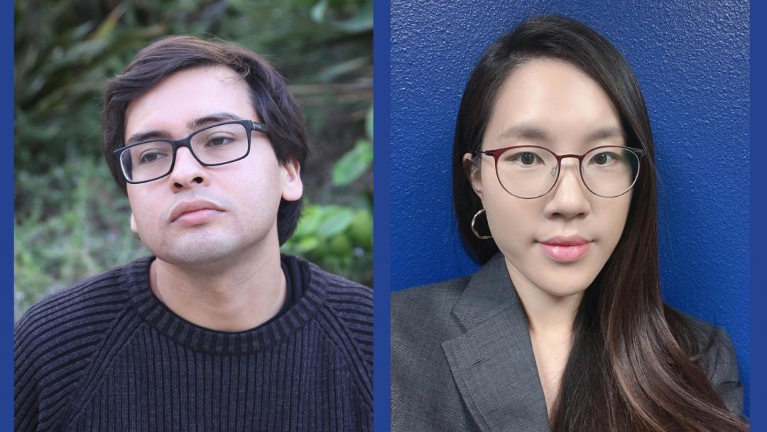 Christopher Contreras, left, and Narae Lee